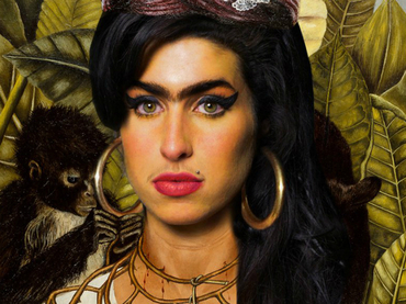 Sobreponen Rostro De Amy Winehouse En Pintura De Frida Kahlo