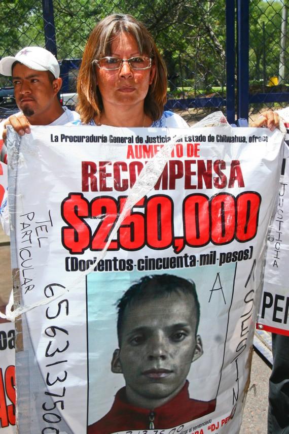 En la búsqueda de justicia para su hija, Marisela fue asesinada frente al Palacio de Gobierno de Chihuahua. Foto: Cuartoscuro