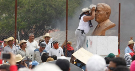Los disturbios del 24 de abril. Foto: Cuartoscuro