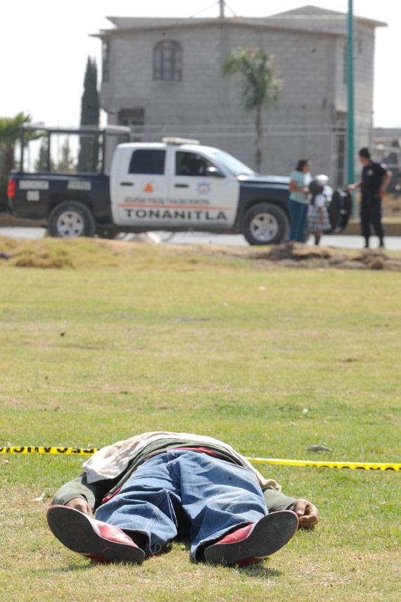 Ejecutado en Tonanitla, Edomex, a finales de enero. Eruviel había prometido la paz a la entidad. Foto: Cuartoscuro