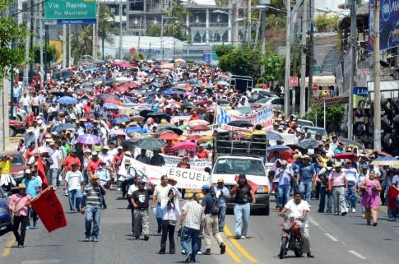 Protesta del 11 de abril. Foto: Cuartoscuro