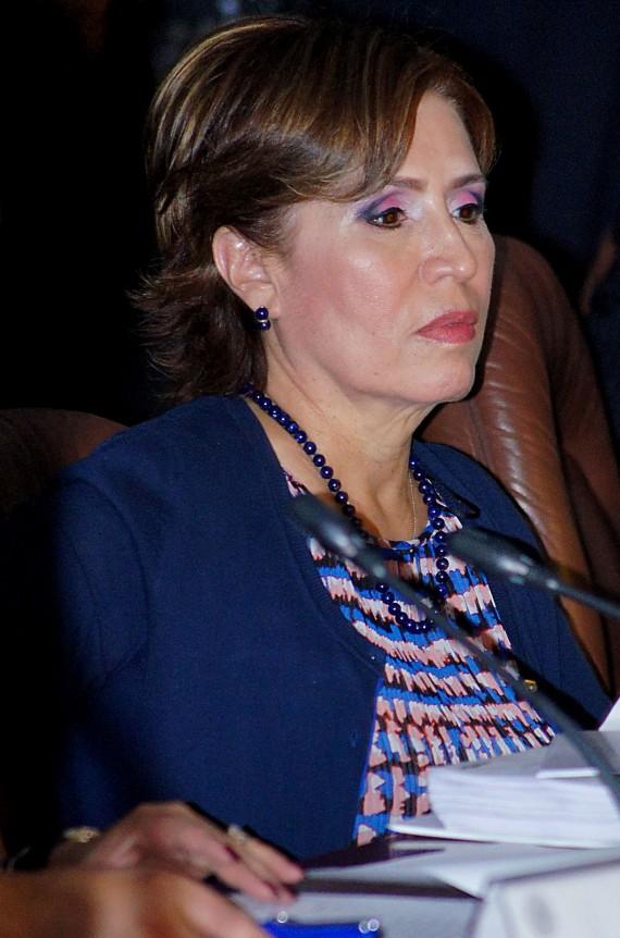 Rosario Robles en comparecencia en el Senado. Foto: Rebeca Argumedo ...