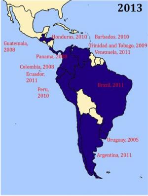 Región en Latinoamérica que prohíbe fumar en lugares públicos y cerrados.