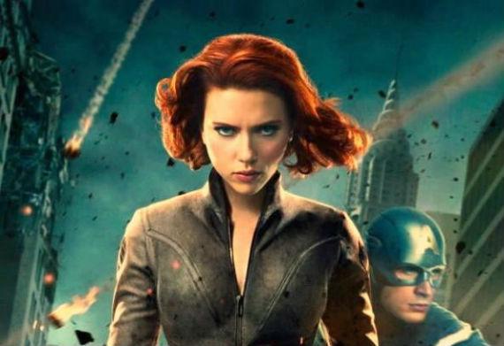 Como la Viuda Negra en The Avengers (Foto: Especial)