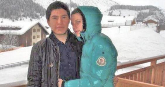 En Europa con su novia