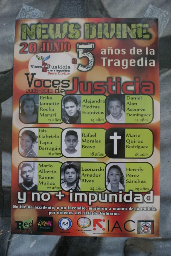 12 jóvenes fallecieron en el operativo de 2008. Foto: Francisco Cañedo, SinEmbargo