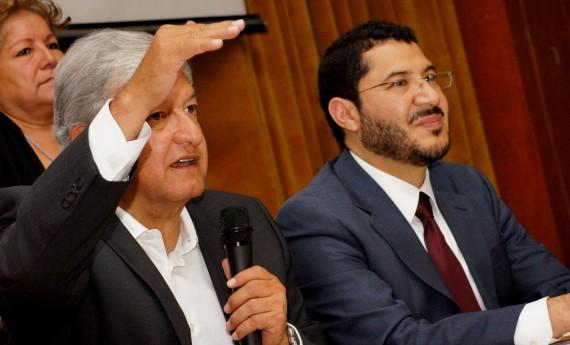 Andrés Manuel López Obrador, Martí Batres. Foto: Rebeca Argumedo, SinEmbargo