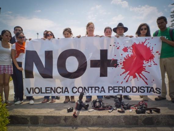 Protestas contra agresiones a periodistas. Foto: Cuartoscuro