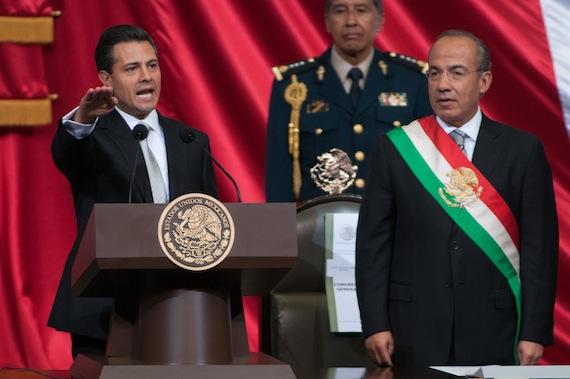 Toma de protesa de Peña Nieto. Foto: Cuartoscuro