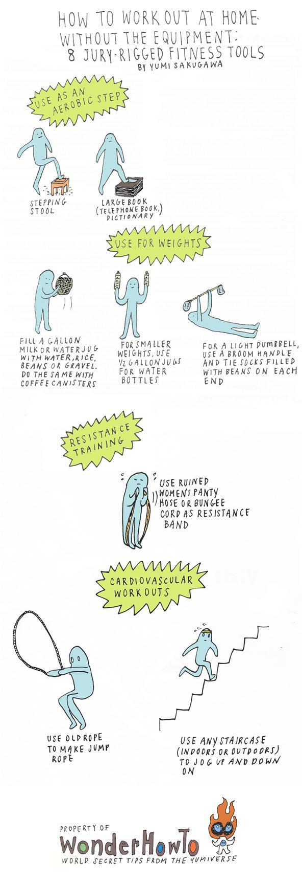 Haz ejercicio en casa sin necesidad de aparatos gimnasio