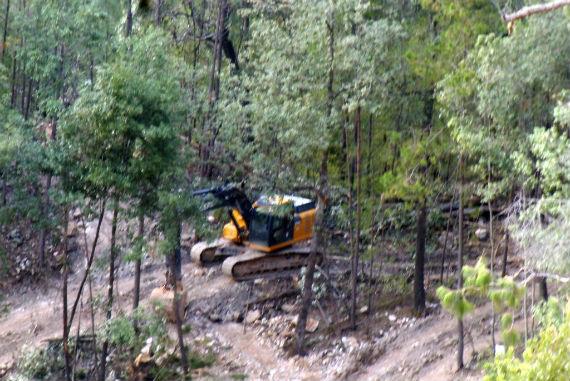 Ejidatarios de Pueblo Nuevo denunciaron invación a sus tierras por parte de la constructora Aldesa. Foto: Cortesía.