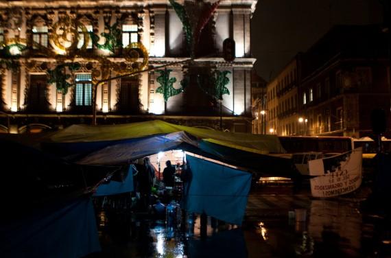 El Campamento. Foto: Antonio Cruz, SinEmbargo
