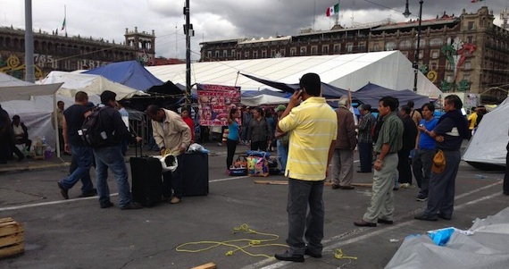 Un campamento de la CNTE se estableció en el Zócalo del 18 de agosto al 13 de septiembre: Foto: Archivo/SinEmbargo.