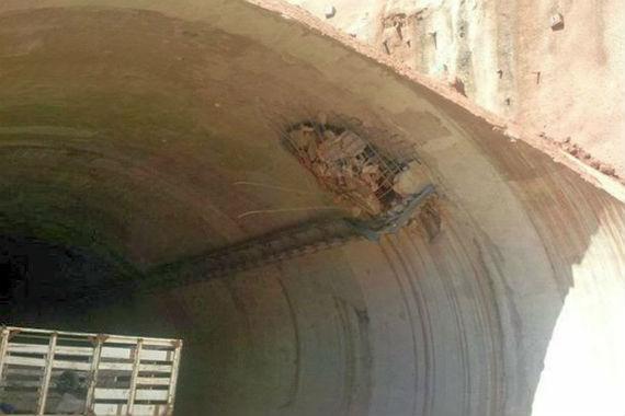 """Daños en el túnel """"La Piedra"""" tras el paso de """"Manuel"""". Foto: Cortesía."""