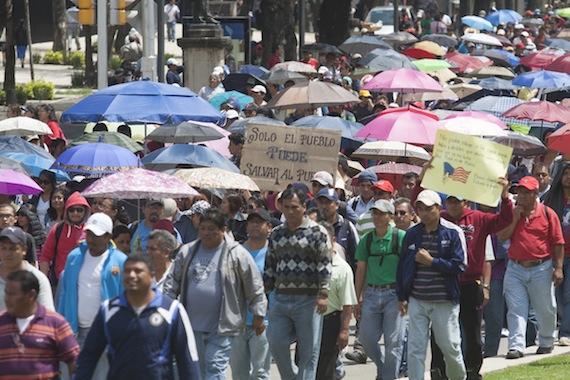 Los maestros realizan protestas desde el 19 de septiembre. Foto: Cuartoscuro.