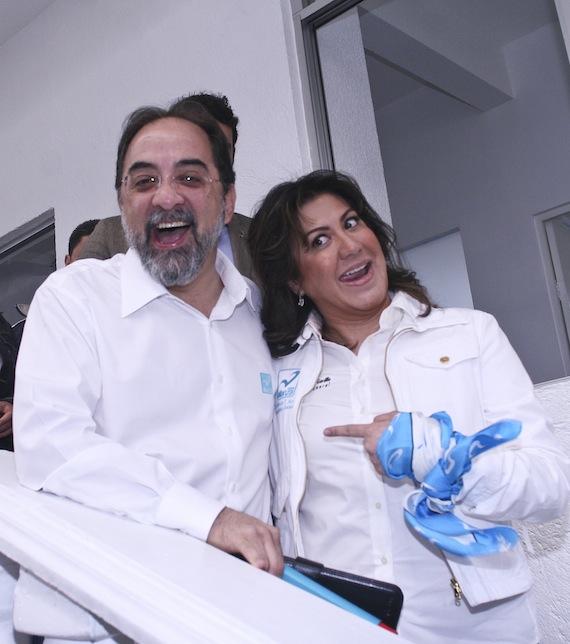 Luis Castro y Mónica Arriola en los buenos tiempos Foto: Cuartoscuro