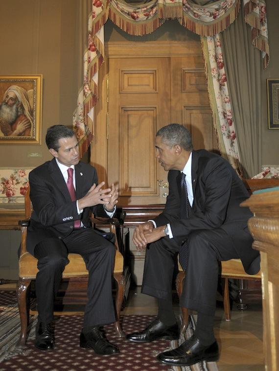 En la visita de los mandatarios de EU y Canadá a México, Sharper no tiene presencia. Foto: Presidencia