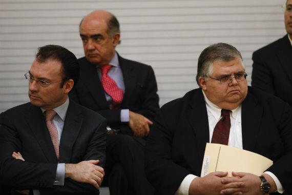 Luis Videgaray y Agustín Carstens han negado que el país esté en recesión. Foto: Cuartoscuro.
