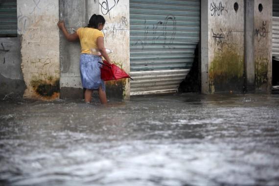 """Afectaciones en Veracruz por """"Ingrid"""". Foto: Cuartoscuro"""