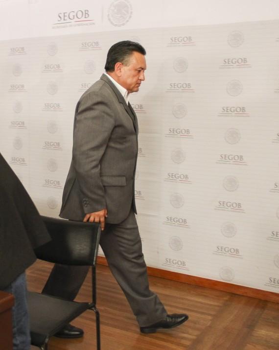 Martín Esparza tras la negociación con Gobernación. Foto: Cuartoscuro