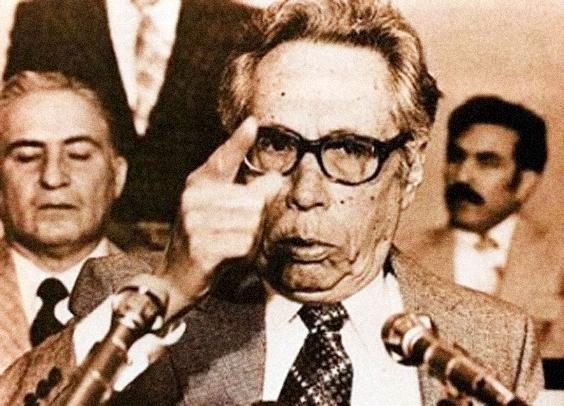 El expresidente Gustavo Díaz Ordaz como embajador de España, 1977.