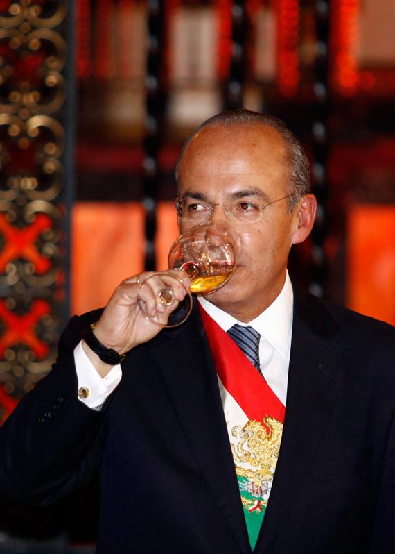 Calderón, en la última cena antes de dejar la Presidencia de México. Foto: Cuartoscuro