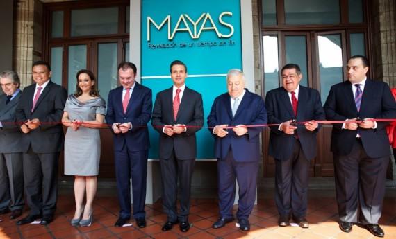 EPN inaugura exposición Maya. Foto: Presidencia