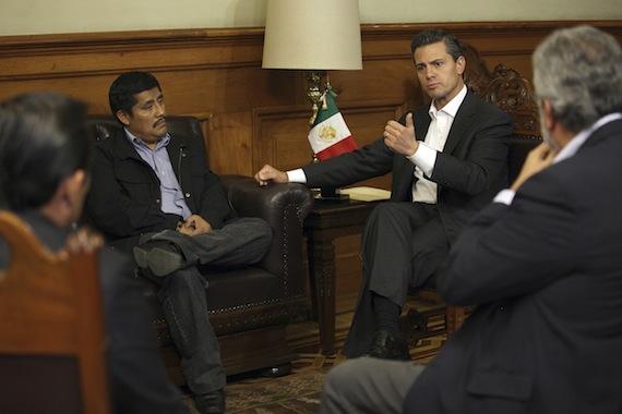 El 4 de diciembre, el Presidente se reunió con el activista Alberto Patishtán. Foto: Cuartoscuro.