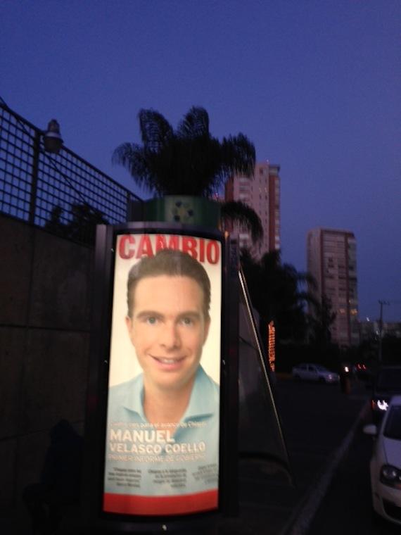 Publicidad ubicada en Glorieta Pabellón Bosques, en el DF. Foto: Especial, SinEmbargo