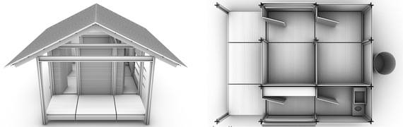 Las casas prefabricadas se pueden montar en sólo dos o tres días. Foto: nevhouse