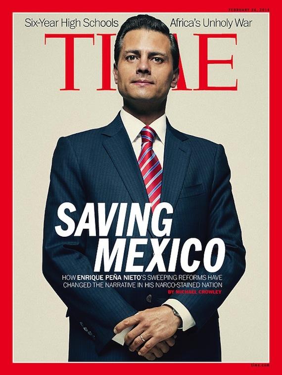 Foto de la portada de la revista Time en su edición internacional.