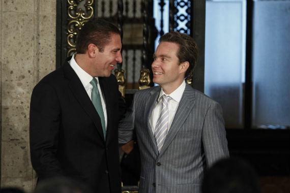 Los gobernadores de Puebla y Chiapas. Foto: Cuartoscuro