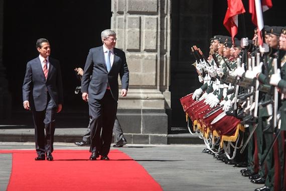La llegada del Primer Ministro de Canadá- Foto: Francisco Cañedo, SinEmbargo.