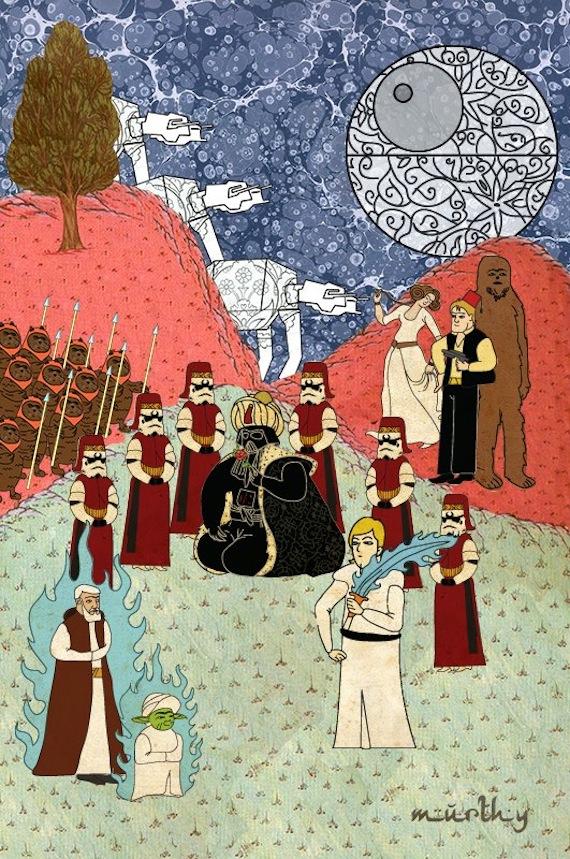 Con algunos arreglos, incluso los ewoks tienen cabida en el arte medieval islámico. Foto: Murat Palta