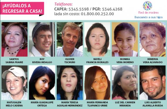 Lista de personas desaparecidas. Foto: Imagen de FUNDENNL