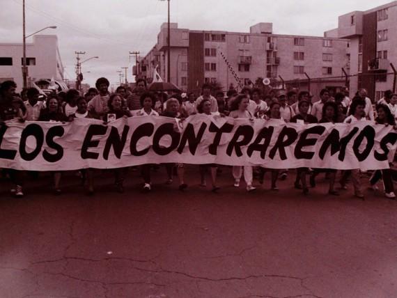 Protesta de familiares por desaparecidos. Archivo Histórico del Comité Eureka. Foto: Facebook/FUNDENL