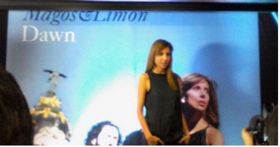 """La cantante mexicana de jazz en la presentación de """"Dawn"""". Foto: Estefanía Camacho/SinEmbargo"""