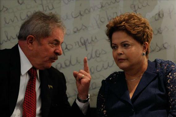 El ex Presidente Lula y la actual mandataria Dilma Rousseff. Foto: Efe