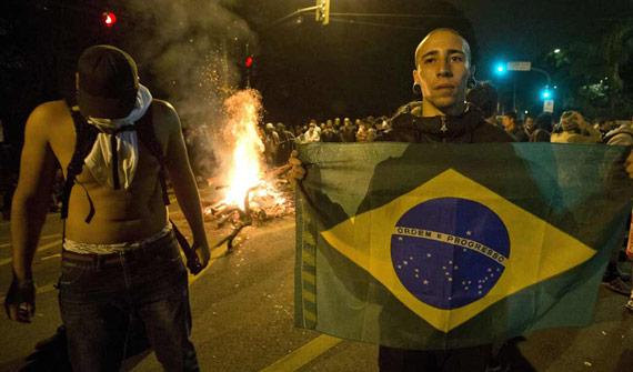 Las manifestaciones y protestas se intensifican en las principales ciudades brasileñas. Foto: EFE