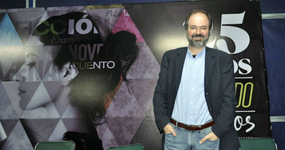 El cronista Juan Villoro habló en Guanajuato de política. de futbol y de literatura. Foto: ZonaFranca