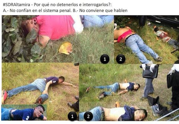 ... federales asesinando a sicarios heridos en Altamira,Tamaulipas