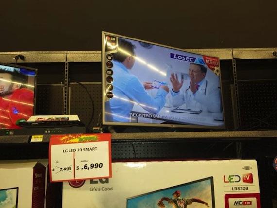 Bodega Aurrera ofreció pantallas en 64 pesos