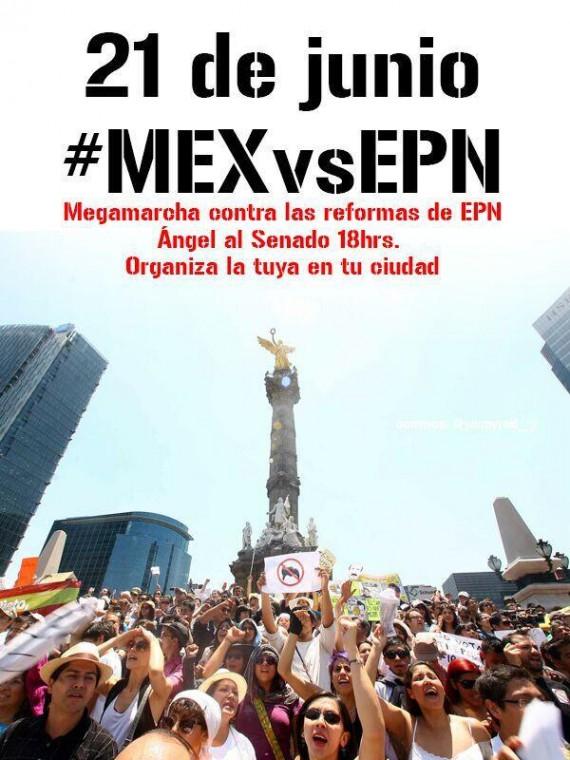 La marcha para este sábado en el Senado de la República se cambió para las 14:00 horas. Foto: Twitter
