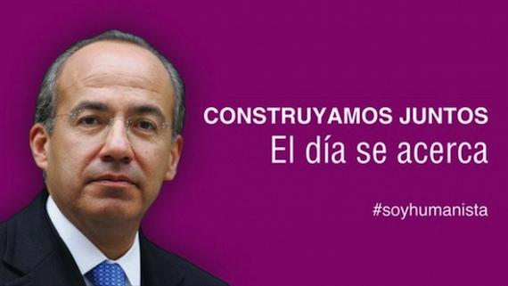 En redes sociales circula una imagen de Calderón y el emblema del PH. Foto: Twitter