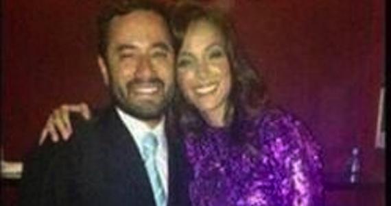El Delegado Víctor Hugo Romo Guerra con la actriz de Televisa. Foto: Facebook