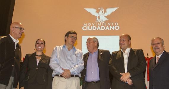 Marcelo Ebrard Causcabón durante convención del Movimiento Ciudadano. Foto: Cuartoscuro.