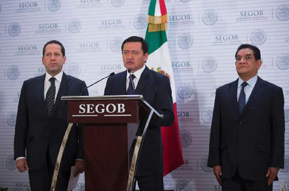 """""""El rescate de Edomex"""", anunciado por autoridades locales y federales. Foto: Segob"""
