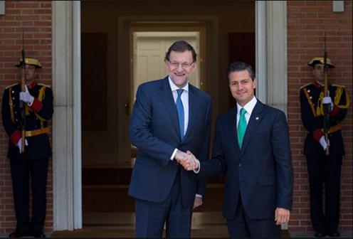 En junio de este año, el Presidente de México, Ernesto Peña Nieto se reunió con su homólogo español, Mariano Rajoy. Foto: Efe