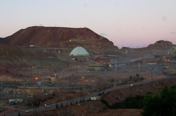 La mina de Buenavista del Cobre. Foto: Antonio Cruz, SinEmbargo.