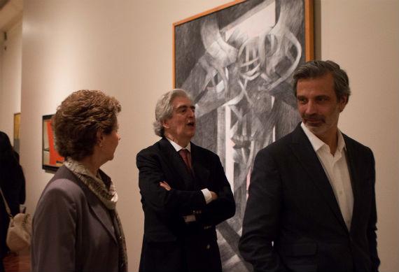 Rafael Tovar y de Teresa, el más entusiasta en la exposición. Foto: Francisco Cañedo, SinEmbargo
